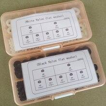 Flat Washer Spacers-Seals Nylon Gasket-Ring-Kit Insulation Plastic Black M4 M2.5 M5 M6