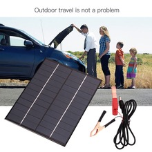 5.5W 12V Waterproof Polycrystalline Solar Panel For Car Universal Battery Storge Energy Portable solar Cell Charging Board