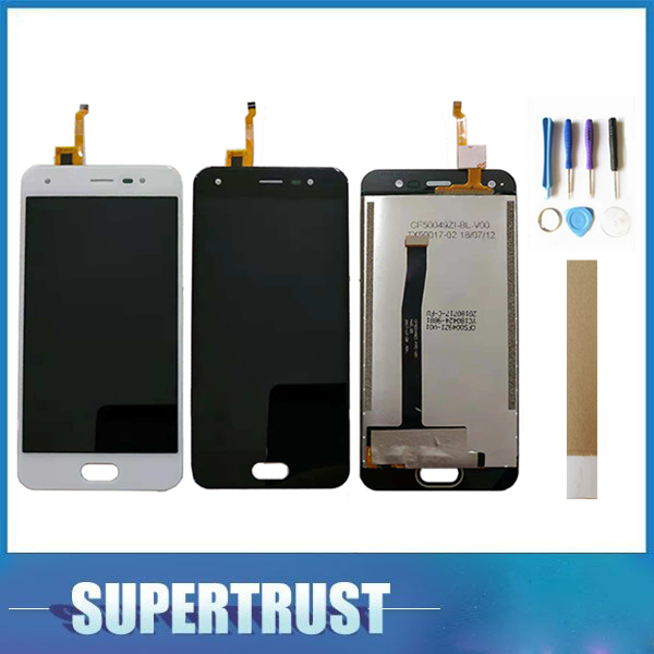 For BQ Mobile BQ 5012L Rich BQ5012L BQ 5012L LCD Display+Touch Screen Digitizer Assembly Black White Color with tape&tools