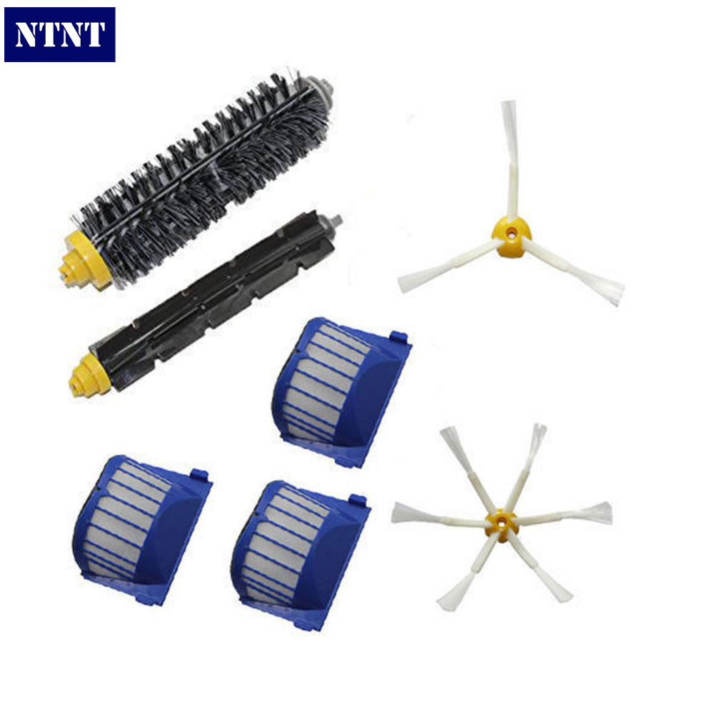 NTNT Free Post new AeroVac Filter & 3/6 arms Brush Kit for iRobot Roomba 600 Series 620 630 650 660 free post new blue 6 x aerovac filter for irobot roomba 600 series 620 630 650 660 670 680
