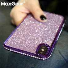 For Redmi Note 5 Plus Redmi 6 Pro 6A Case Luxury Bling Glitter Diamond Cover For Xiaomi Mi 6 6X A2 8 8SE Soft Plating Cases(China)