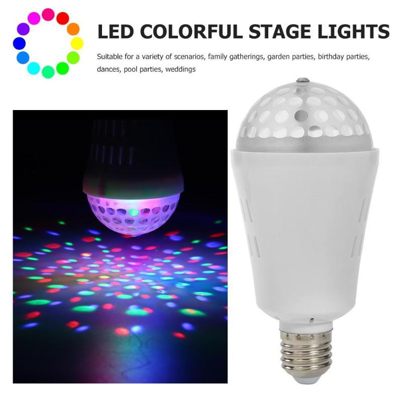 Disco KTV LED Lights Bulb RGB 3W Crystal Magic Ball Party Stage Lamp Decor