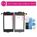 "Original 2.9"" For Nokia XpressMusic 5530 Touch Screen Digitizer Sensor Panel Front Glass+Free Tools Free Shipping"