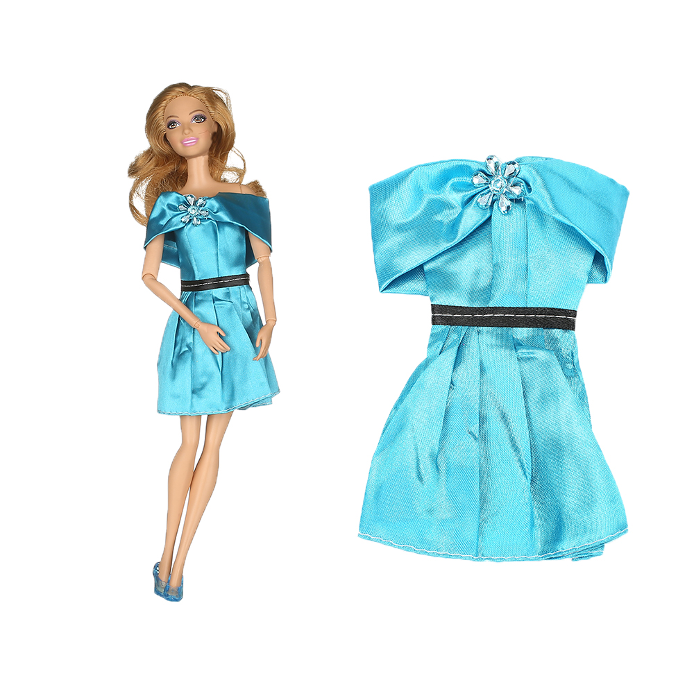 1pcs Handmade Blue Costume For Princess Pocahontas Costume Outfit Garments For Barbiee Doll Lady Reward Sizzling Promote Child Toys AB2
