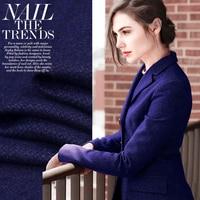 150CM Wide 400G M Elegant Blue Pure Wool Fabric For Comfortable Senior Overcoat Coat Jacket