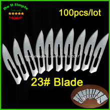 100pcs/lot Blade 23# Surgery Scalpel Opening Repair Tools Knife for Disposable Sterile/Mobile Phone/Beauty/DIY