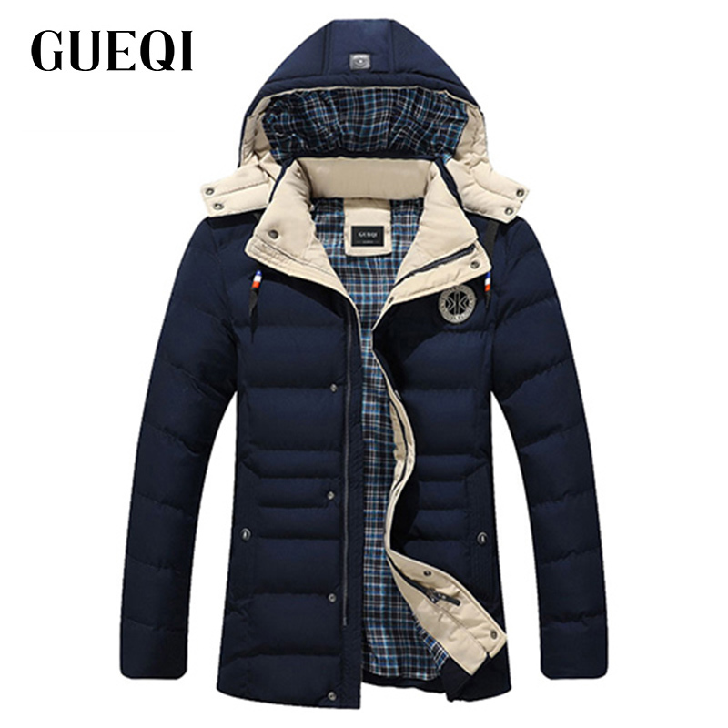 Подробнее о GUEQI 2017 Men New Winter Jacket Brand Clothing Warm Casual Solid Men's Popular Hooded Parkas For Male Jackets Outwear Coats 815 winter jacket men coats thick warm casual fur collar winter windproof hooded outwear men outwear parkas brand new