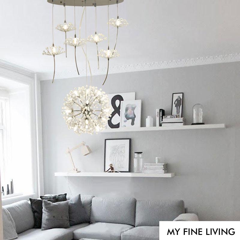 Led Lampe Design Moderne Lustres En Cristal Décor Home Éclairage Pour Salon Chambre Foyer Cuisine Lustres Fer G4