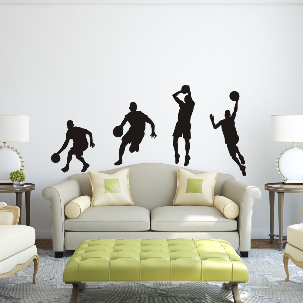 Aliexpress.com : Buy Basketball Player Dribble Dunk Sequence Michael Jordan  Sticker graphics Wall Decal wall Sticker boy Bedroom Decor 64
