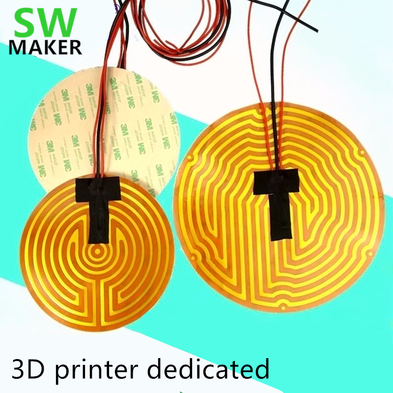Computer & Office Swmaker 25/70/44/160/180/220/260/240/330mm Round Polyimide Film Heater Bed Ntc3950 Thermistor For Delta Kossel 3d Printer 3d Printers & 3d Scanners