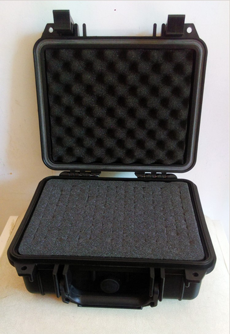 240*185*105 мм Водонепроницаемый случае инструмент Toolbox Камера корпусом прибора окне чемодан ударопрочный герметичный с предварительно -cut пена ...