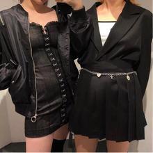 Strap Button Denim 2018 Summer Dress Women Ruffle Tie up Black Dress jeans Streetwear Overalls Female Suspender Jumper Dress