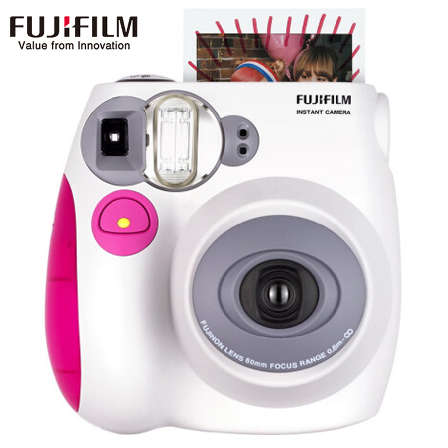 Genuine Fujifilm Fuji Instax Mini 7s Instant Film Photo Camera Pink Blue Back Color instock Free Shipping cheaper than mini 8 new 5 colors fujifilm instax mini 9 instant camera 100 photos fuji instant mini 8 film