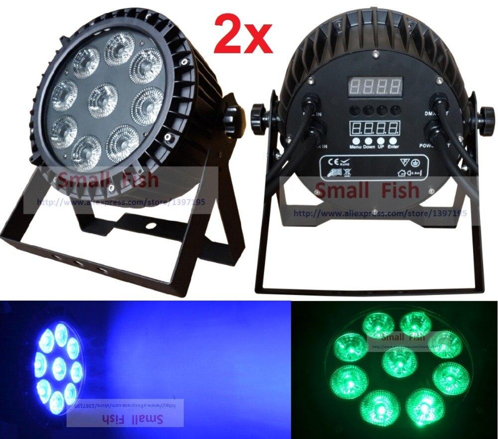 Hot Sale Led Par Light Waterproof 9X10W RGBW Quad Color Outdoor Flat Par Can IP65 Stage Effect Lighting DJ Disco Party Lights