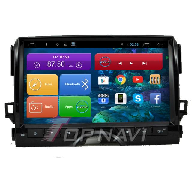 10.2 ''quad core android 4.4 estéreo do carro para toyota reiz 2015 com Rádio De Áudio E Vídeo GPS Mapa Livre Wifi Bluetooth Frete Grátis