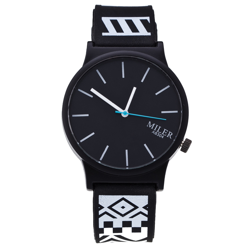 Fashion Silicone Quartz Women Watches Popular Brand Miler Women Wristwatches Unisex Jelly Casual Hour Reloj Mujer Hot 2016 fashion lady wrist watch casual silicone watches with quartz unisex wristwatches for men women gift silicona children mujer