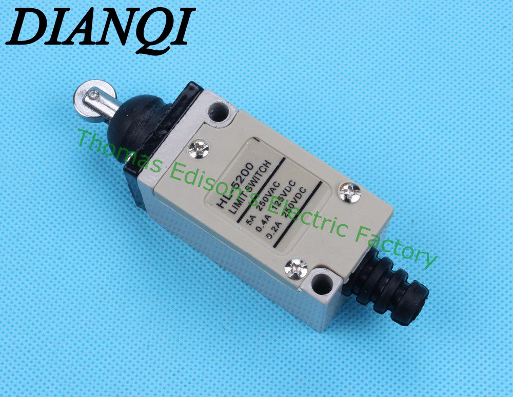 Micro Limit Switch SPDT 250VAC 10A Short Lever Roller Pluger Cross 7311