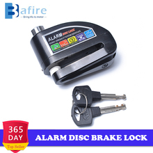 Motorcycle Scooter Bicycle Anti-theft Wheel Disc Alarm Brake Lock Security Black Waterproof 110db Alarm Sound 6mm Pin Brake Lock