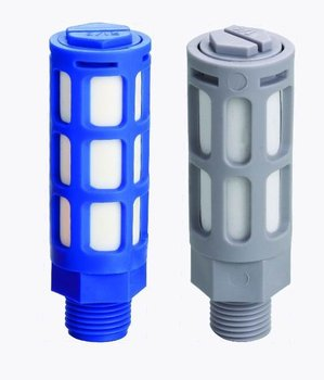 "Envío gratis 10 unids/lote silenciador neumático Hilo de plástico 1/4 ""1/4 pulgadas tapones neumáticos silenciador PSL-02"
