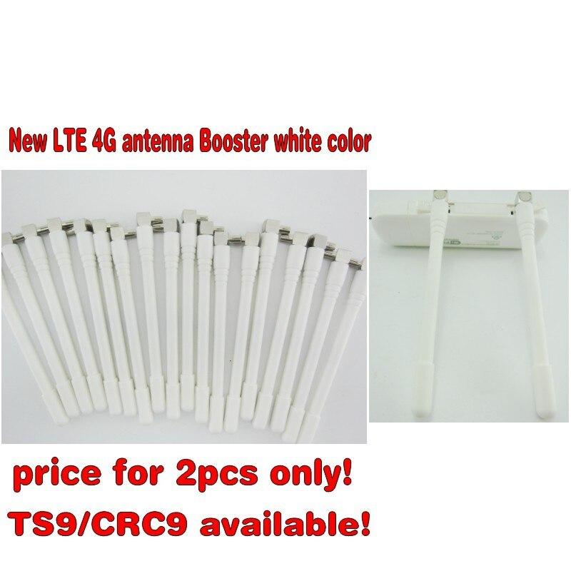 2 stücke weiße farbe LTE 4G antenne Booster für Huawei E3372 E5372 E8372 E5577 E5573 E5377 E8278 3G 4G LTE Antenne TS9 Stecker