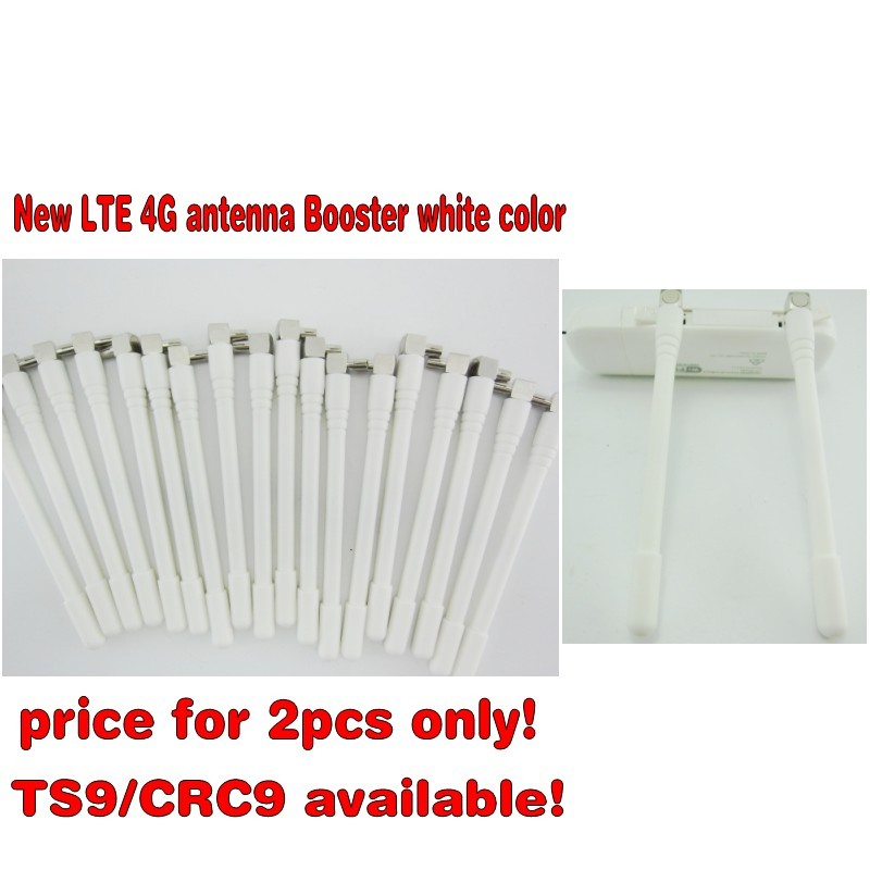 2pcs white color LTE 4G antenna Booster for Huawei E3372 E5372 E8372 E5577 E5573 E5377 E8278 3G 4G LTE Aerial TS9 Connector