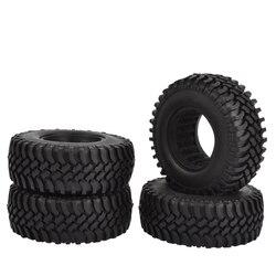 4 Uds 100mm 1,9 pulgadas neumáticos de goma con inserciones de espuma para 1:10 RC Rock oruga Axial SCX10 D90 D110 Tamiya CC01 neumáticos de 1,9 pulgadas
