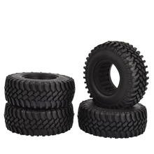 4pcs 100MM Rock Crawler Tires Tyre For 1/10 RC Off-Road Car RC4WD D90 D110 AXIAL SCX10 1.9 Inch Wheel Rim
