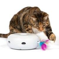 Elektronische Rot Kat Speelgoed Smart Plagen Kat Stok Crazy Game Spinning Draaitafel Catch Mouse Donut Automatische Draaitafel Kat Smart Speelgoed