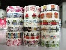2291 patterns jiataiheworld map paper masking washi tape mushroom bird striped leaf deer brown diy tape 1roll/lot Free shipping