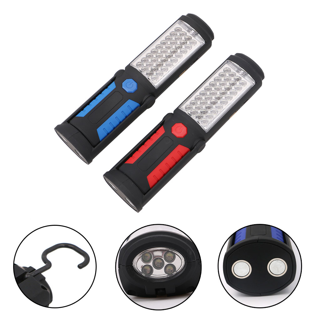 USB Rechargeable Portable 36+5Led Work Light Camping Emergency Lamp Flashlight Magnetic With Hook Stand Built in Battery new rechargeable lithium battery operated 10w rechargeable emergency light