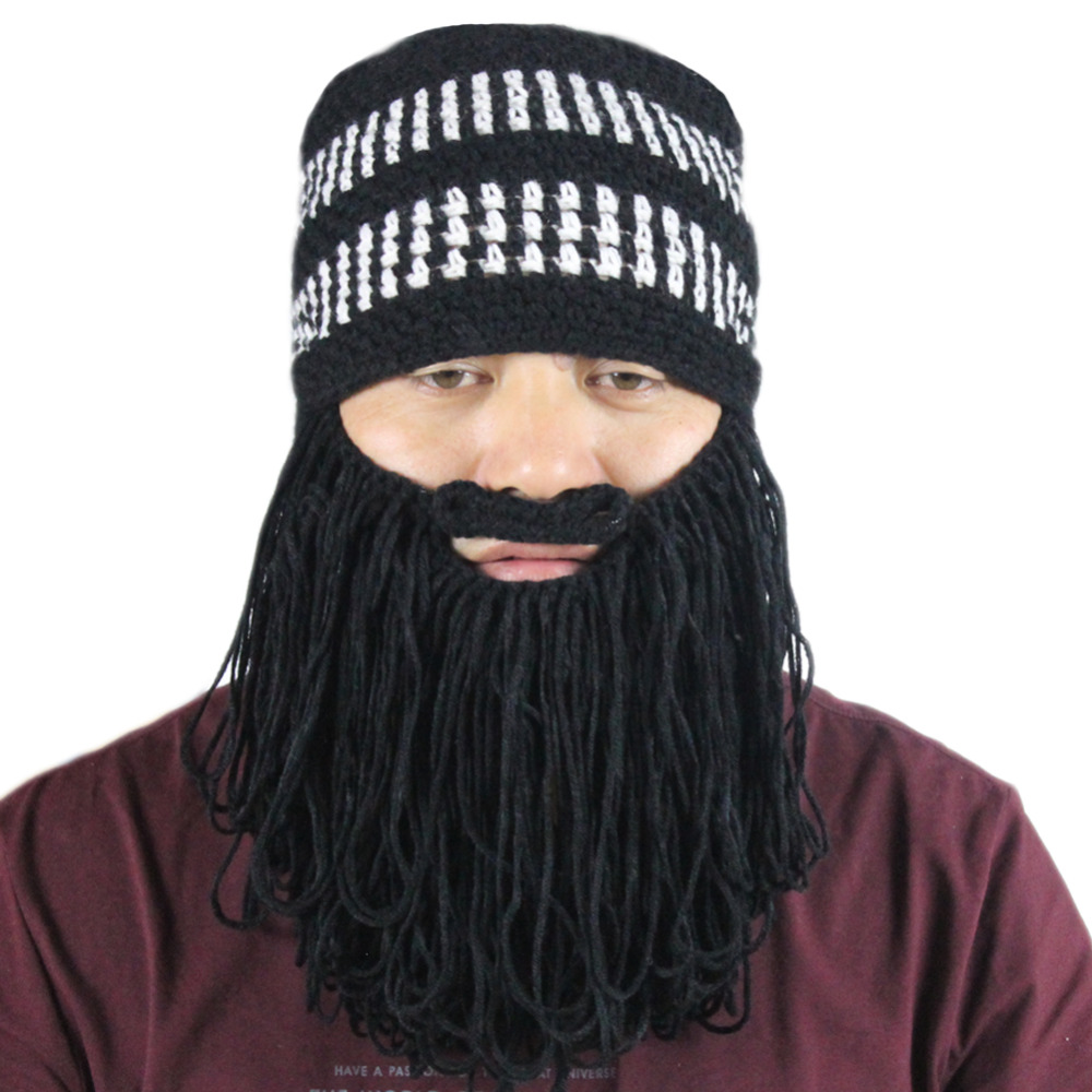83e7aa35607 Men s Cotton Winter Warm Stretchy Knitted Outdoor Sports Cylcing Skiing  Snowboarding Beard Mustache Beanies Hat Cap Face Mask