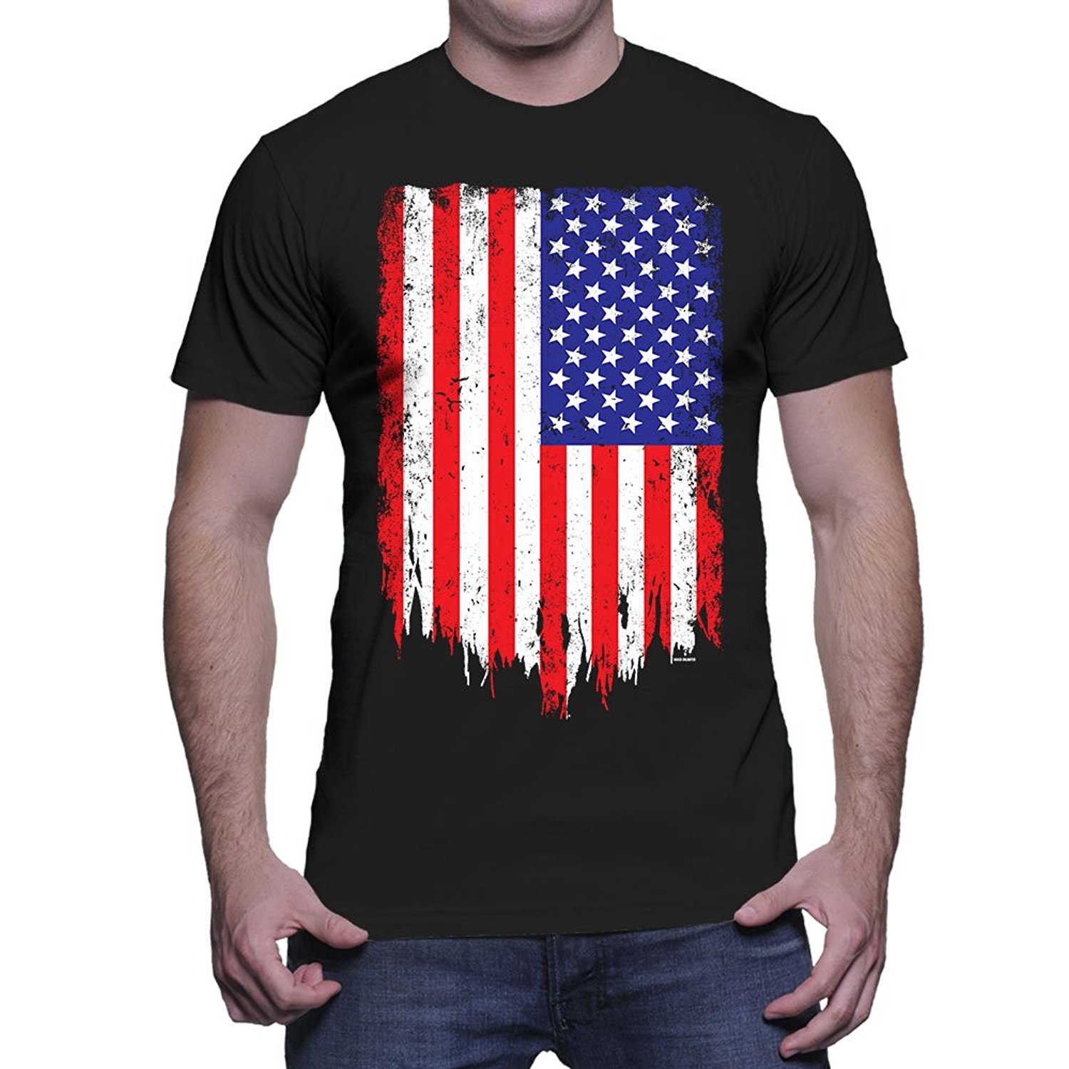 Design t shirt online usa - Adult Size Funny Tshirts Mens Big Disteressed American Flag Usa T Shirt Premium Fitted Design