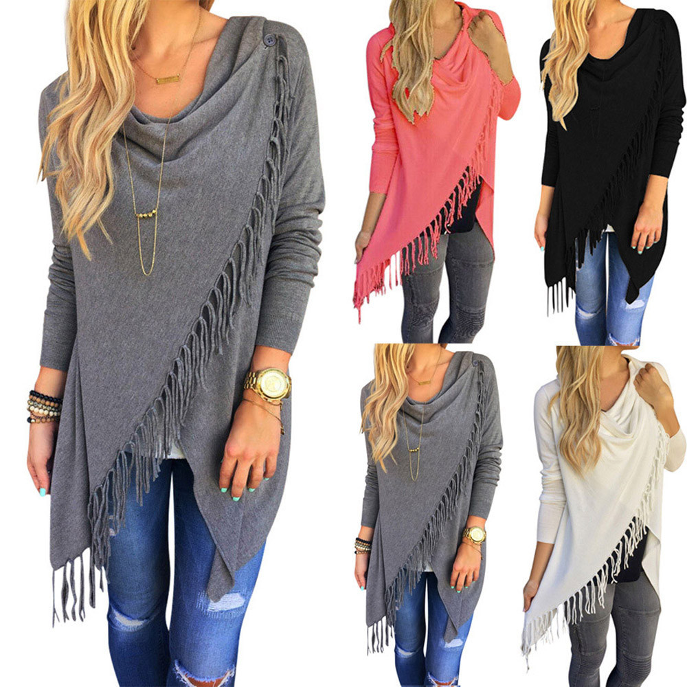 Knitted Sweater Pullovers Tassel Autumn Winter Plus-Size Candy-Colors Fashion Avodovama-M