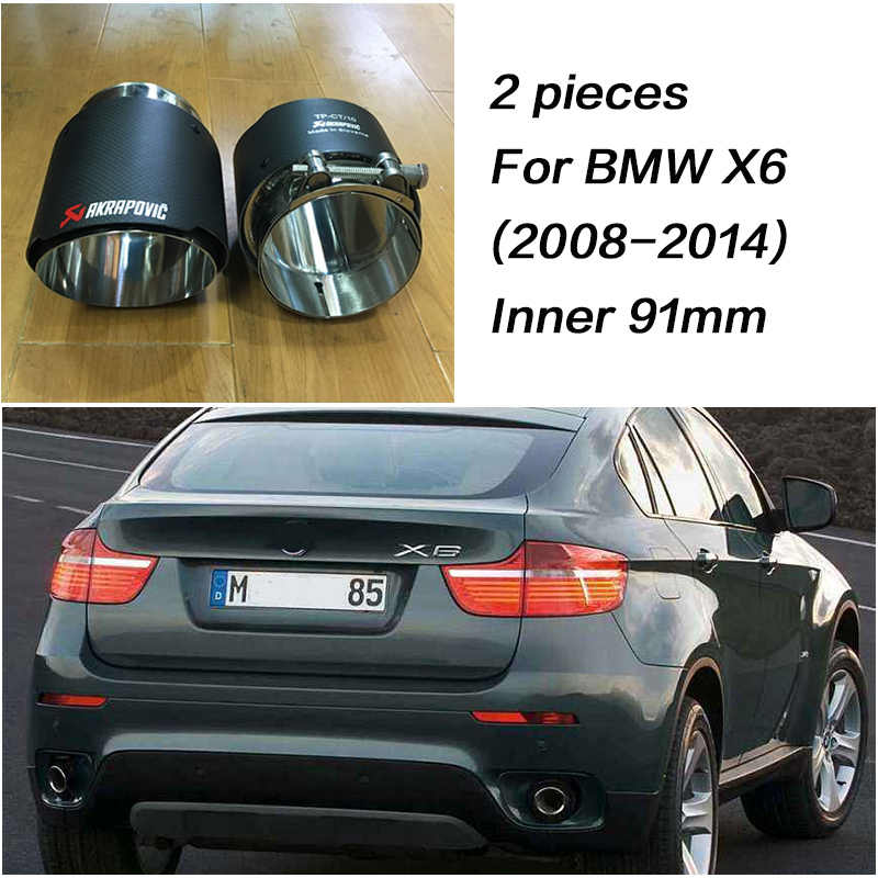 Zd For Bmw X5 E53 E70 X6 E71 F16 X1 F48 2015 2016 2017 M Performance Car Carbon Fiber Exhaust Tips Muffler Pipe Akrapovic Covers