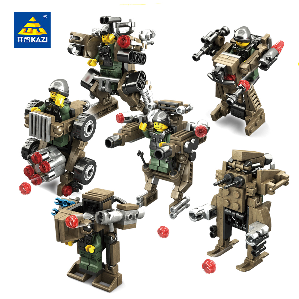 KAZI Toys Police Series Buliding Blocks Compatible Legos City DIY Police Command Center Bricks Enlighten Educational Toy For Kid