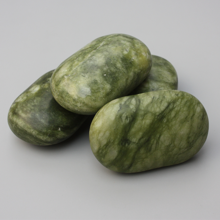 himabm high quality natural green jade mushroom massage stone for health body reiking healing item relax tool acupunture point 4pcs natural olive greem marble stone SPA massage for relax health body chakra reiking healing stone health tool