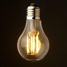 A60 шаровая лампочка светодиодный 10 Вт 2200 K 2700 K старинная светодиодная нить лампочки Edison A19 Глобус Стиль E26 E27 220VAC светодиодные лампы