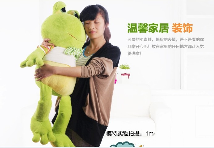 stuffed animal frog plush toy 100 cm frog doll throw pillow gift f888 free shipping 50cm frog plush toy soft stuffed frog doll gift for lovers gift for kids