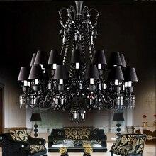 hot deal buy black crystal chandelier lighting luxury hotel chandeliers living room transparent chandelier lights led staircase crystal lamps