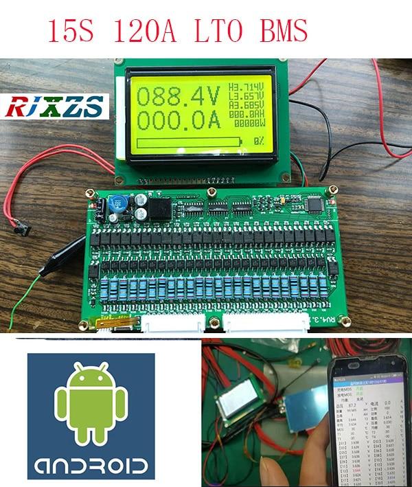 15 s 50A/80A/100A/120A LTO BMS/PCM/PCB batterij bescherming boord voor 15 pak 18650 Li Ion Batterij Cel (ANT BMS smart board)-in Opladers van Consumentenelektronica op  Groep 1
