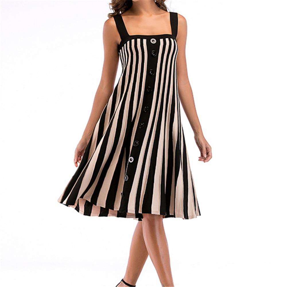 Sexy Striped Women Dress Summer Fashion Hot Sale Casual ...
