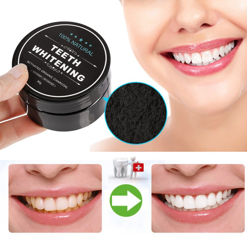 2 Pcs Daily Use Teeth Whitening Scaling Powder Oral Hygiene Cleaning Packing Premium Activated Bamboo Charcoal Powder