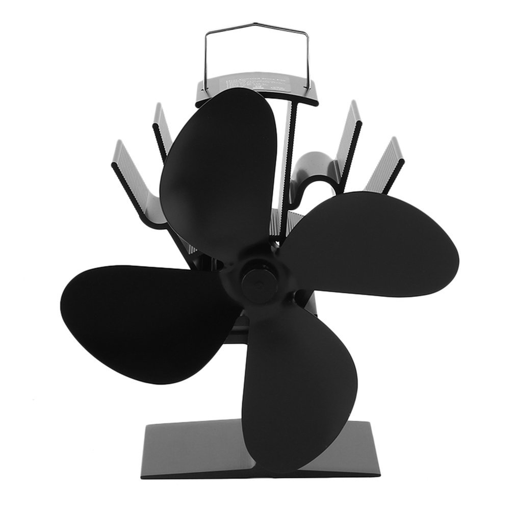 Fireplace Insert Blower Fan 2018 New Arrival Fireplace Stove Aluminium Blower Fan 4 Blades Fans With High Efficiency Quiet