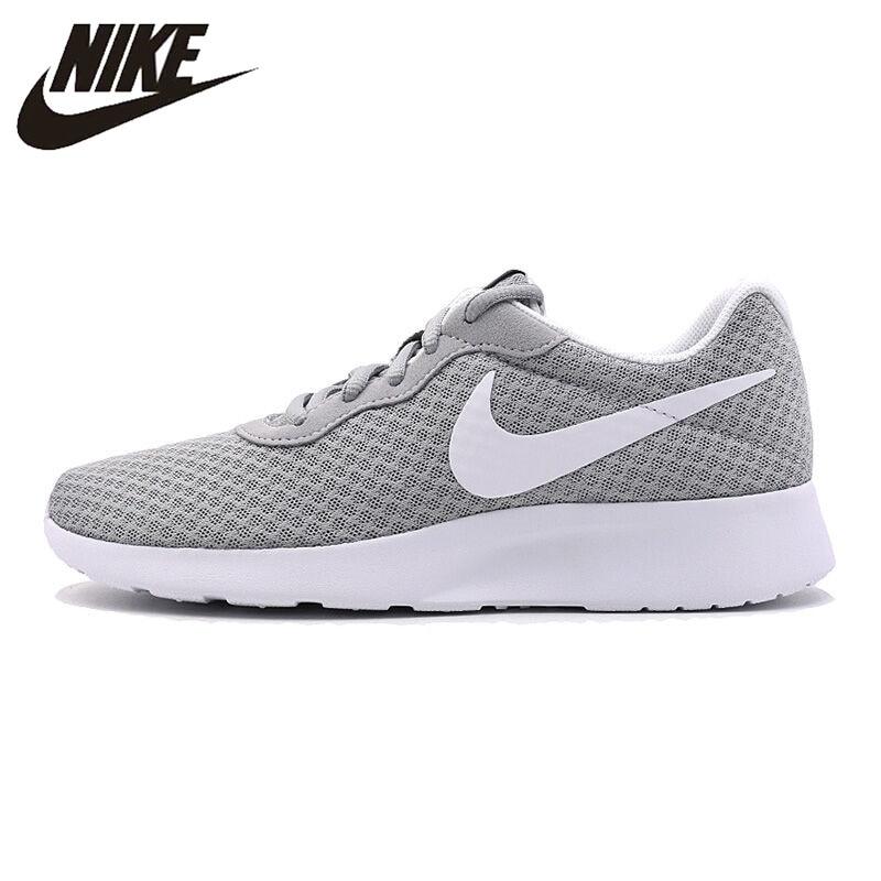 NIKE Original New Arrival Tanjun Men s Running Shoes Roshe Run Gray Sneakers  Outdoor Walkng Jogging Sneakers 00416a8171