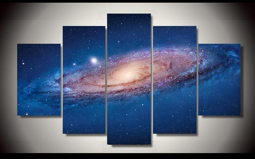 ᗗL immensité de la Voie Lactée étonnamment mur toile arts pour la