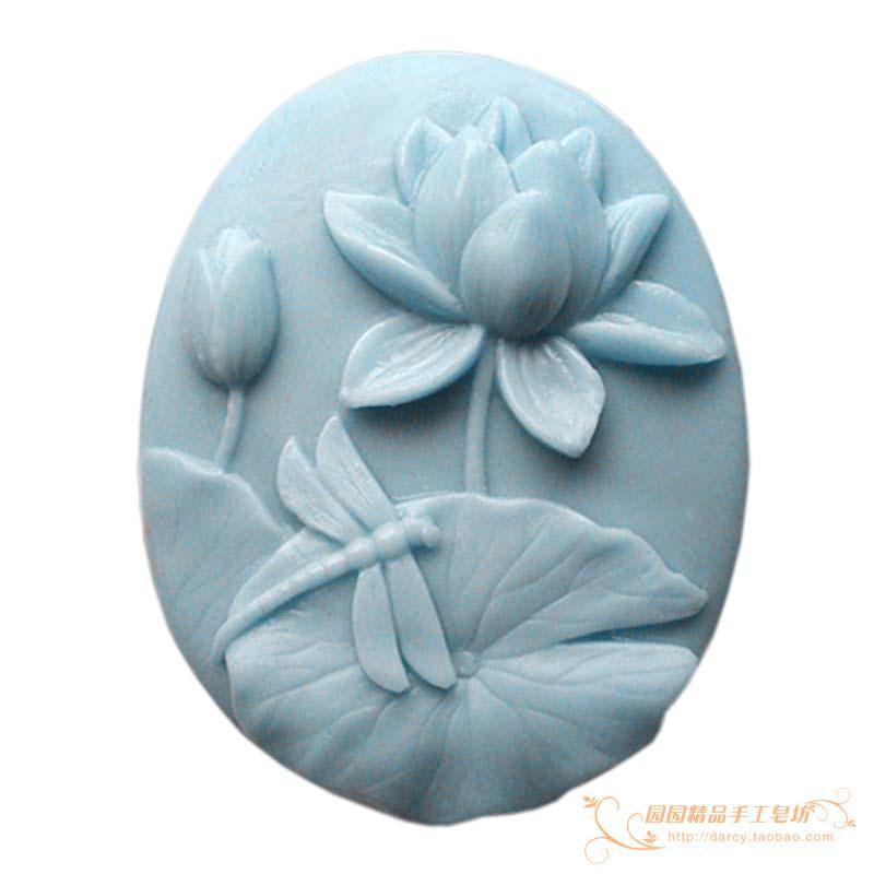 Lotus Dragonfly Silikonová mýdla silikonová 3D ruční forma formy DIY Craft formy S082