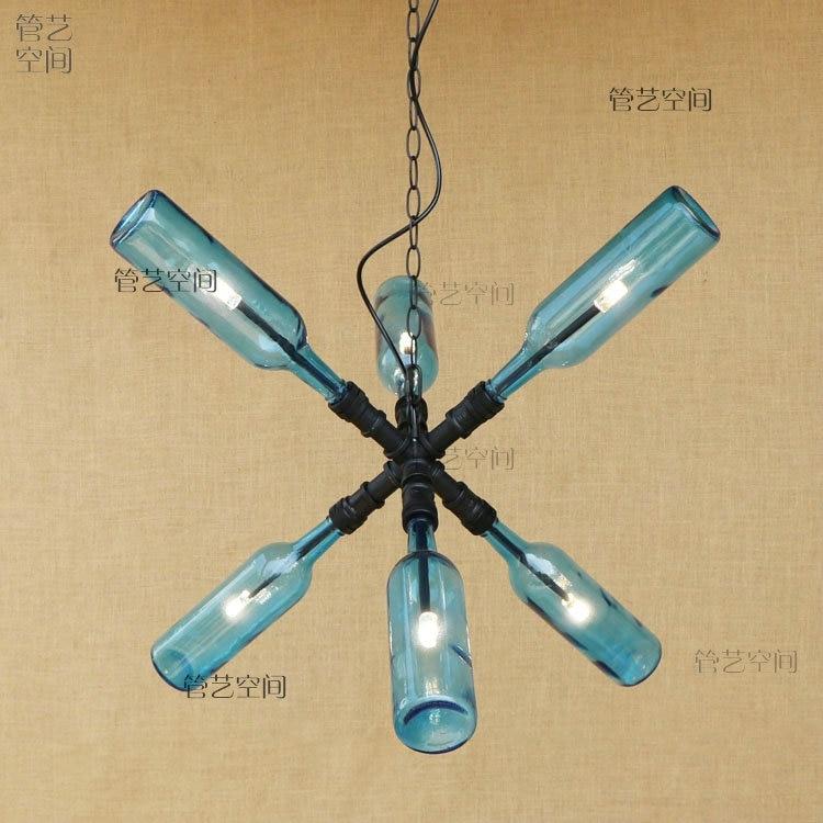 Retro wind water pipe LED pendant lights bedroom study industrial corridor LED energy saving lamp glass pendant lamps ZA GY273 pendant lights bedroom pendant lamp led pendant light -