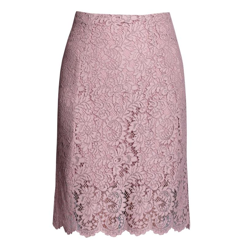 レーススカート夏 2018 新しい女性ウエストスリムセクシーなピンクオフィスの女性のエレガントなスカートトップ品質  グループ上の レディース衣服 からの スカート の中 1