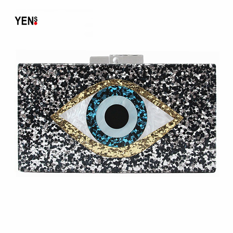 Yens Clutch Prom-Handbag Patchwork Elegant Messenger-Bag Women Fashion Cartoon Luxury