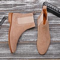 Men's Boots Casual Men Shoes Winter Mid Calf Chelsea Boots Men Boot Genuine Leather Ankle Autumn Men Winter Boots Big Size 45 48